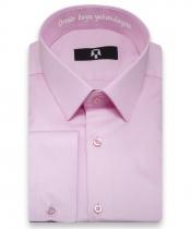 'Ömür Boyu Yakandayım 'Nakışlı Tozpembe Hatıra Gömleği