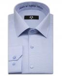 'Mutlu ve Sağlıklı Yıllara' Nakışlı Gök Mavi Yılbaşı Hatıra Gömleği