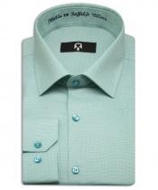 'Mutlu ve Sağlıklı Yıllara' Nakışlı Nane Yeşili Yılbaşı Hatıra Gömleği